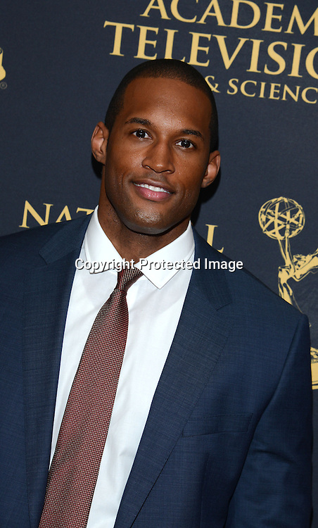 Lawrence Saint-Victor attends the Creative Arts Emmy Awards on April 24, 2015 at the Universal l Hilton in Universal City, California, USA.