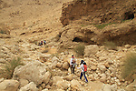 Israel, Negev, hiking in Nahal Tzafit