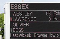 An interesting juxtaposition of surnames on the scoreboard 'Lawrence Olivier' during Yorkshire CCC vs Essex CCC, Specsavers County Championship Division 1 Cricket at Emerald Headingley Cricket Ground on 5th June 2019