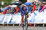 Vittoria Bussi of Italy in action during the Women's Elite Individual Time Trial of the UCI World Championships 2019 running 30.3km from Ripon to Harrogate, England. 24th September 2019.<br /> Picture: Alex Whitehead/SWPix.com | Cyclefile<br /> <br /> All photos usage must carry mandatory copyright credit (© Cyclefile | Alex Whitehead/SWPix.com)
