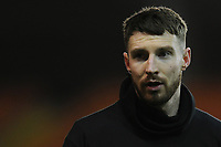 Blackpool's James Husband during the pre-match warm-up <br /> <br /> Photographer Kevin Barnes/CameraSport<br /> <br /> The EFL Sky Bet League One - Blackpool v Gillingham - Tuesday 11th February 2020 - Bloomfield Road - Blackpool<br /> <br /> World Copyright © 2020 CameraSport. All rights reserved. 43 Linden Ave. Countesthorpe. Leicester. England. LE8 5PG - Tel: +44 (0) 116 277 4147 - admin@camerasport.com - www.camerasport.com