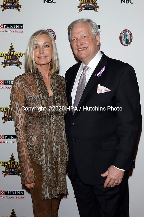 LOS ANGELES - FEB 29:  Bo Derek, David Frei at the Beverly Hills Dog Show Presented by Purina at the LA County Fairplex on February 29, 2020 in Pomona, CA