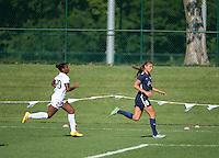 Kansas City, MO - Sunday September 04, 2016: Tiffany McCarty, Erica Skroski during a regular season National Women's Soccer League (NWSL) match between FC Kansas City and the Sky Blue FC at Swope Soccer Village.