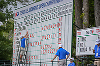 Scorekeepers post Sarah Jane Smith's (AUS) score after 10 holes at -10 as she headed for hole 2 during round 2 of the U.S. Women's Open Championship, Shoal Creek Country Club, at Birmingham, Alabama, USA. 6/1/2018.<br /> Picture: Golffile | Ken Murray<br /> <br /> All photo usage must carry mandatory copyright credit (&copy; Golffile | Ken Murray)