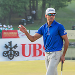 Rafael Cabrera Bello of Spain reacts after finishing the course during the 58th UBS Hong Kong Golf Open as part of the European Tour on 10 December 2016, at the Hong Kong Golf Club, Fanling, Hong Kong, China. Photo by Marcio Rodrigo Machado / Power Sport Images