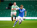 Celtic v St Johnstone...30.10.12      Scottish Communities Cup.Liam Craig holds off Scott Brown.Picture by Graeme Hart..Copyright Perthshire Picture Agency.Tel: 01738 623350  Mobile: 07990 594431