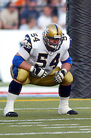 Matt Sheridan Winnipeg Blue Bombers 2003. Photo Scott Grant