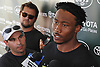 Brandon Marshall #15, New York Jets wide receiver, talks to the media about an on-the-field incident he had with #24 Darrelle Revis (not in picture) at team training camp at Atlantic Health Jets Training Center in Florham Park, NJ on Friday, Aug. 5, 2016