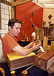 Playing hand crafted marimba at the Sawdust Festival