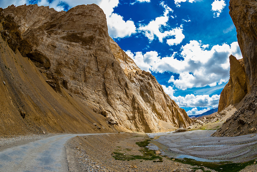 High mountain passes of the Himalayas, Leh-Manali Highway, Ladakh; Jammu and Kashmir State, India.