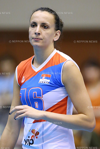 Milena Rasic (SRB), <br /> JULY 16, 2017 - Volleyball : FIVB Volleyball World Grand Prix SENDAI 2017 match between <br /> Serbia 3-1 Thailand <br /> at Kamei Arena Sendai, in Sendai, Japan. <br /> (Photo by Sho Tamura/AFLO)