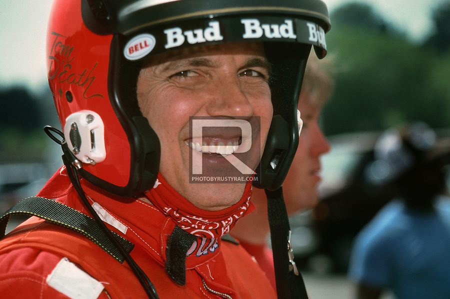 Tom D'Eath, when he filled in for Jim Kropfeld, driving the Miss Budweiser. Probably shot in the Seattle pits, but not sure.