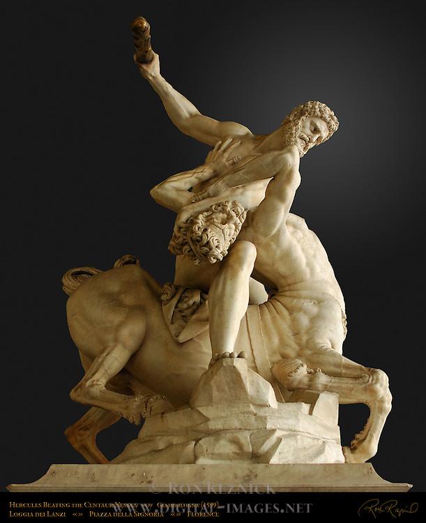 Hercules Beating the Centaur Nessus Gradient Clip Giambologna Loggia dei Lanzi Florence
