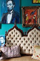 luxury silk sofa