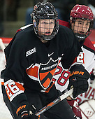 Ryan Siiro (Princeton - 26) - The Harvard University Crimson defeated the Princeton University Tigers 3-2 on Friday, January 31, 2014, at the Bright-Landry Hockey Center in Cambridge, Massachusetts.