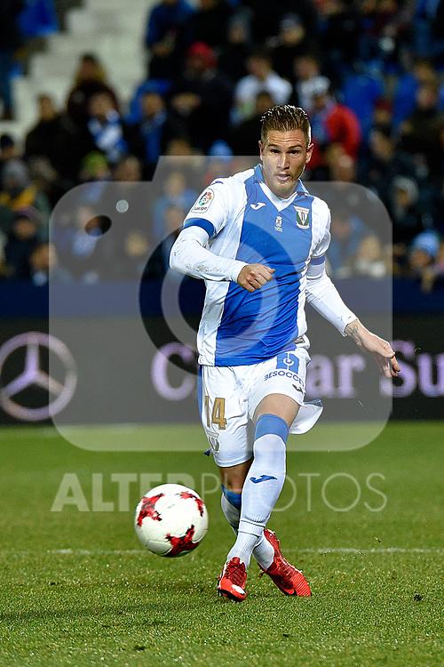 Leganes Raul Garcia vs Villarreal during Copa del Rey match. 20180104.