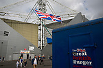 Preston North End 1 Reading 0, 19/08/2017. Deepdale, Championship. Spectators approaching a refreshment stand outside the ground before Preston North End take on Reading in an EFL Championship match at Deepdale. The home team won the match 1-0, Jordan Hughill scoring the only goal after 22nd minutes, watched by a crowd of 11,174. Photo by Colin McPherson.