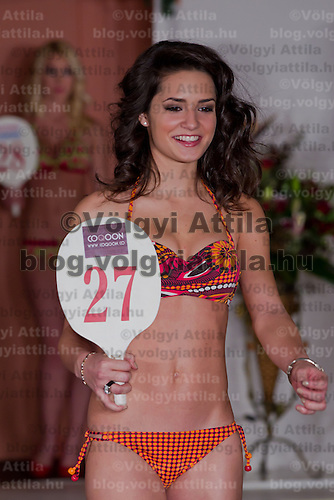 Muzsa Kalvari runner up of the Teen Miss Hungary beauty contest held in Budapest, Hungary on December 29, 2011. ATTILA VOLGYI