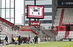 nph0001:  17.05.2020 --- Fussball --- Saison 2019 2020 --- 2. Fussball - Bundesliga --- 26. Spieltag: FC Sankt Pauli - 1. FC Nürnberg ---  DFL regulations prohibit any use of photographs as image sequences and/or quasi-video - Only for editorial use ! --- <br /> <br /> Anzeigentafel <br /> Foto: Daniel Marr/Zink/Pool//via Kokenge/nordphoto