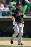 Indianapolis Indians right fielder Adam Boeve walks back to the dugout after striking out versus the Charlotte Knights at Knights Stadium in Fort Mill, SC, Sunday, August 13, 2006.