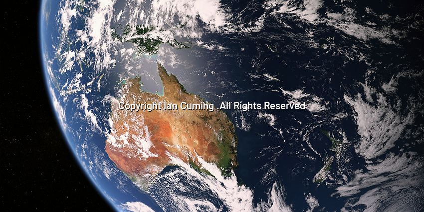 Australia and New Zealand from space