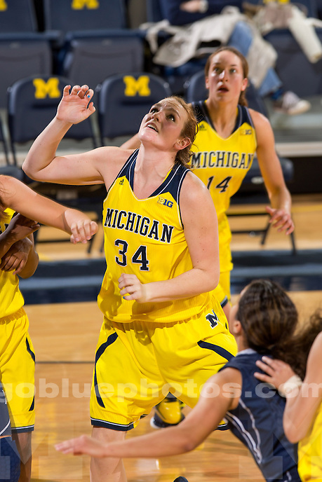 The University of Michigan women's basketball team lost to Xavier, 79-75, at Crisler Center in Ann Arbor, Mich., on November 13, 2013.