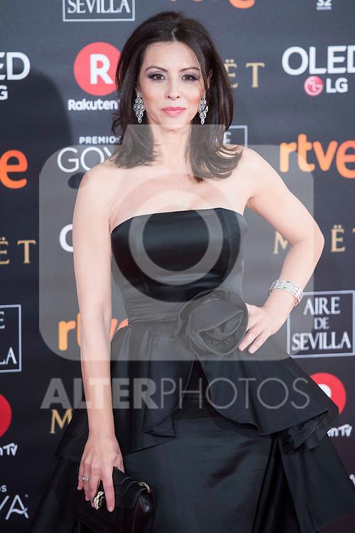 Ana Alvarez attends red carpet of Goya Cinema Awards 2018 at Madrid Marriott Auditorium in Madrid , Spain. February 03, 2018. (ALTERPHOTOS/Borja B.Hojas)