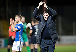 Dundee v St Johnstone&hellip;29.12.18&hellip;   Dens Park    SPFL<br />Tommy Wright applauds the fans at full time<br />Picture by Graeme Hart. <br />Copyright Perthshire Picture Agency<br />Tel: 01738 623350  Mobile: 07990 594431