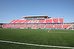 22 July 2007: A wide view across the field of the main West Stand before the game. At the National Soccer Stadium, also known as BMO Field, in Toronto, Ontario, Canada. Chile's Under-20 Men's National Team defeated Austria's Under-20 Men's National Team 1-0 in the third place match of the FIFA U-20 World Cup Canada 2007 tournament.