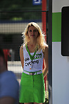 Skoda girl in The Tour Village at sign on in Verviers before the start of Stage 3 of the 104th edition of the Tour de France 2017, running 212.5km from Verviers, Belgium to Longwy, France. 3rd July 2017.<br /> Picture: Eoin Clarke | Cyclefile<br /> <br /> <br /> All photos usage must carry mandatory copyright credit (&copy; Cyclefile | Eoin Clarke)