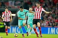 Athletic de Bilbao's Aymeric Laporte (r) and FC Barcelona's Luis Suarez during La Liga match. October 28,2017. (ALTERPHOTOS/Acero) /NortePhoto.com
