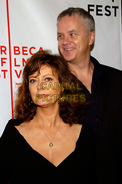 "SUSAN SARANDON & TIM ROBBINS.6th Annual Tribeca Film Festival - ""The Education of Charlie Banks"" premiere held at Clearview Chelsea West,.New York City, New York, USA,.27 April 2007..half length black married husband wife.CAP/ADM/BL.©Bill Lyons/AdMedia/Capital Pictures. *** Local Caption ***"