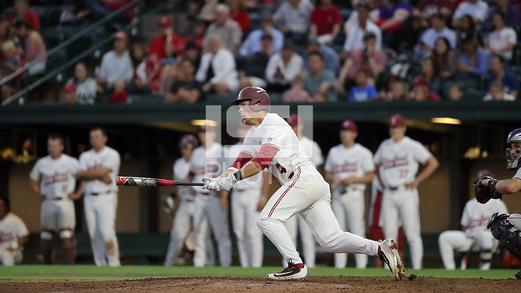 Stanford, CA - May 19, 2017:  Stanford Baseball defeats Washington 8-4 on Fireworks Night at Sunken Diamond.