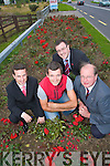 Pictured at the new Rose beds sponsored by Ballyseedy home and outdoor living, at the Killarney road entrance to Tralee pictured from left Padraig McGillycuddy, Ballygarry House Hotel, Nathan McDonnell, Ballyseedy home and outdoor living, John Drummey, Communications Director Rose of Tralee, and John Griffin Tralee Town Council.