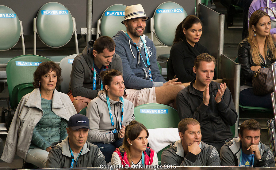 Mats Merkel (GER)<br /> <br /> Tennis - Australian Open 2015 - Grand Slam -  Melbourne Park - Melbourne - Victoria - Australia  - 25 January 2015. <br /> &copy; AMN IMAGES