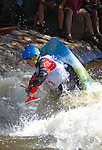 June 4, 2016 - Lyons, Colorado, U.S. - Swedish junior paddler, Hugo Wredendal, during freestyle kayak action on the South Saint Vrain River at the Lyons Outdoor Games, Lyons, Colorado.