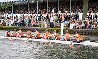 Henley Royal Regatta, Henley on Thames, Oxfordshire, 28 June - 2 July 2017.  Wednesday  14:46:45   28/06/2017  [Mandatory Credit/Intersport Images]<br /> <br /> Rowing, Henley Reach, Henley Royal Regatta.<br /> <br /> The Temple Challenge Cup<br />  University of Virginia, U.S.A.