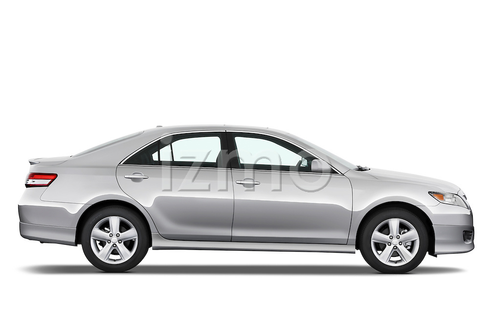 Passenger side profile view of a 2010 Toyota Camry SE V6.