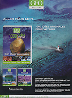 Tear sheet Ad in VSD french magazine - Date 07-2010 for GEO Books - Background photo © Sami Sarkis