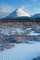 Snow covered Glamaig - Sgurr Mhairi, Red Cuillin Hills, Isle of Skye, Scotland