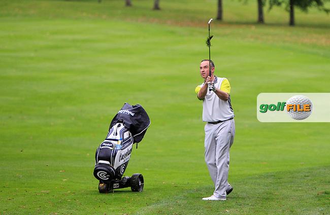 Mark O'Boyle (Heath) on the 18th during Round 2 of the 104th Irish PGA Championship at Adare Manor Golf Club on Friday 3rd October 2014.<br /> Picture:  Thos Caffrey / www.golffile.ie