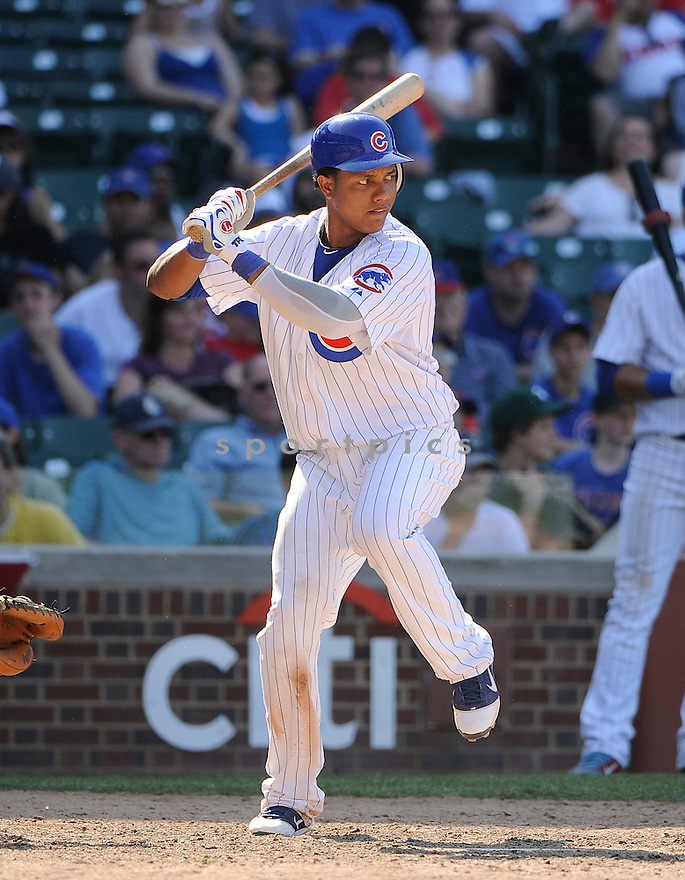 STARLIN CASTRO, of the Chicago Cubs in action during the Cubs game against the Houston Astros, on May 30, 2011 at Wrigley Field in Chicago, Illinois.  The Astros beat the Cubs 7-3.