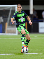 Pictured: Alex Gogic of Swansea Saturday 11 July 2015<br />