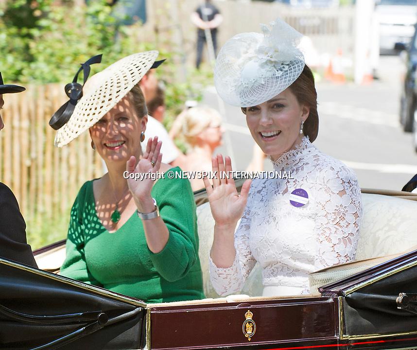 Kate Middleton, Will & Royals At Royal Ascot2017 Day1