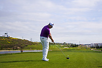 Marcus Fraser (AUS) on the 1st tee during Round 4 of the Open de Espana 2018 at Centro Nacional de Golf on Sunday 15th April 2018.<br /> Picture:  Thos Caffrey / www.golffile.ie<br /> <br /> All photo usage must carry mandatory copyright credit (&copy; Golffile | Thos Caffrey)