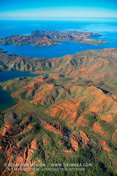 Le Canal Woodin séparant le Mont Mau et l'île Ouen, Sud de la Grande-Terre, Nouvelle-Calédonie