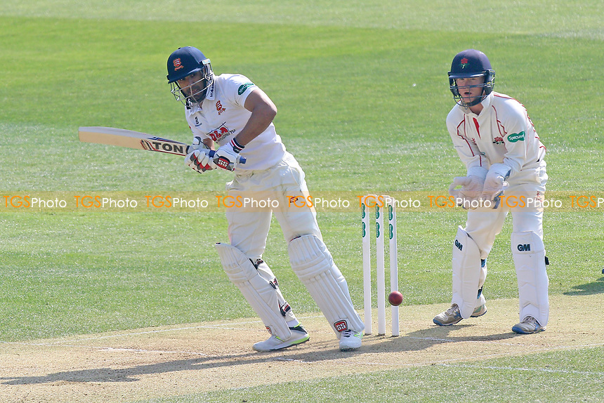 Ravi Bopara in batting action for Essex as Alex Davies looks on from behind the stumps during Essex CCC vs Lancashire CCC, Specsavers County Championship Division 1 Cricket at The Cloudfm County Ground on 8th April 2017