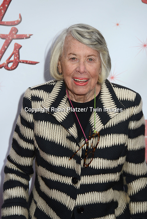 """Liz Smith arrives at the """"Kinky Boots"""" Broadway Opening on April 4, 2013 at The Al Hirschfeld Theatre in New York City. Harvey Fierstein wrote is the Book Writer and Cnydi Lauper is the Composer."""