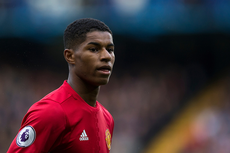 Manchester United's Marcus Rashford<br /> <br /> Photographer Craig Mercer/CameraSport<br /> <br /> The Premier League - Chelsea v Manchester United - Sunday 23rd October 2016 - Stamford Bridge - London<br /> <br /> World Copyright &copy; 2016 CameraSport. All rights reserved. 43 Linden Ave. Countesthorpe. Leicester. England. LE8 5PG - Tel: +44 (0) 116 277 4147 - admin@camerasport.com - www.camerasport.com
