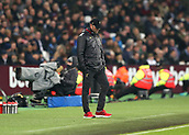 4th February 2019, London Stadium, London, England; EPL Premier League football, West Ham United versus Liverpool; Liverpool Manager Jurgen Klopp looking down on the touchline in disappointment during the 2nd half
